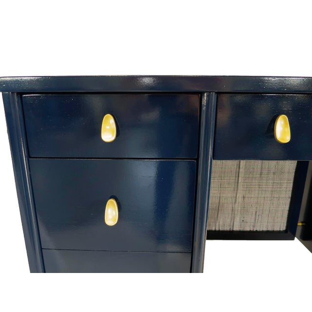 Navy Midcentury Desk - Image 5 of 7