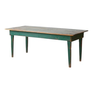 Antique Painted Wood Table
