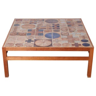Coffee Table with Ceramic Tiles by Tue Poulsen & Willy Beck