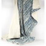 Image of Blue African Mud Cloth Throw Blanket