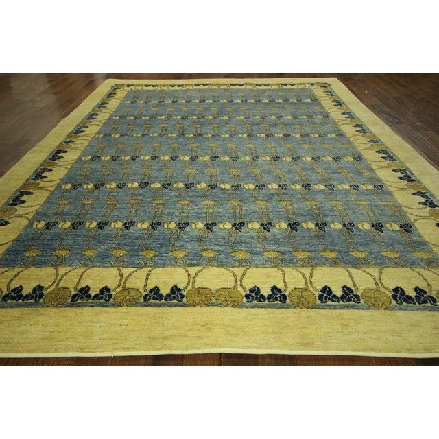 Super Gabbeh Blue Wool Rug - 9' x 12' - Image 3 of 10