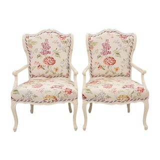 French Style Carved Fauteuils - A Pair