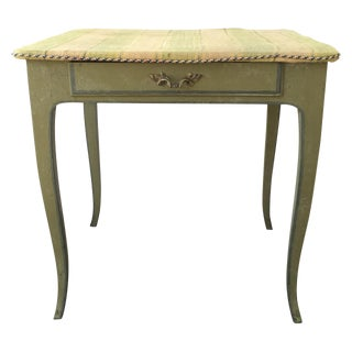 18th C. French Green Painted Side Table