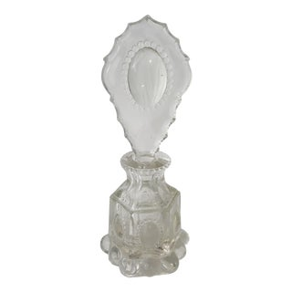 L E Smith Beaded Medallion Perfume Bottle