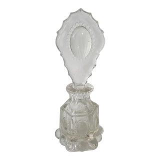 L E Smith Beaded Medallion Perfume Bottle