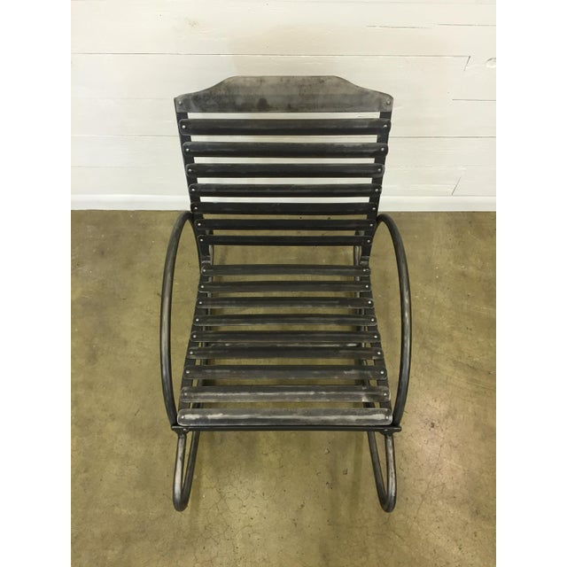 Wrought Iron Porch Rocking Chair - Image 4 of 8