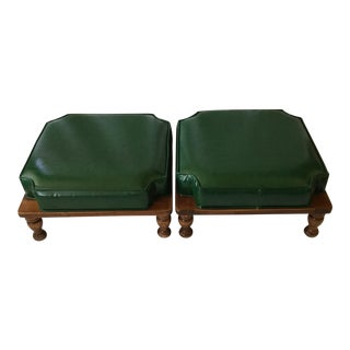 Ethan Allen Stacking Footrests - A Pair