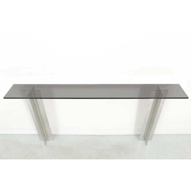 Pace Smoked Glass Console Table - Image 5 of 6