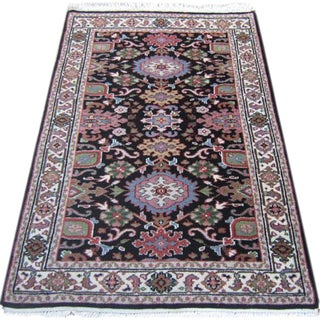 Handmade Indian Heriz Design Rug - 2′1″ × 4′11″