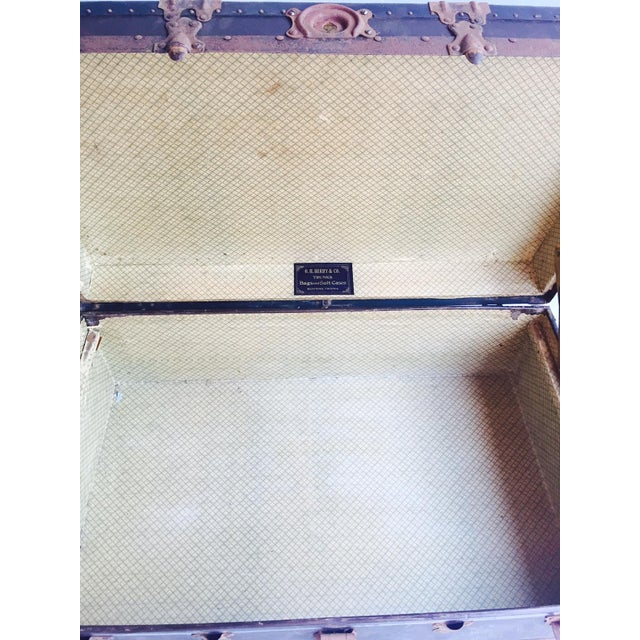 """Antique Steamer Trunk Pirate Chest 35"""" - Image 7 of 7"""