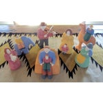 Image of Modernist Clay Ceramic Sculptures - Set of 7
