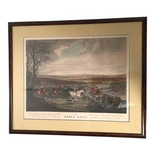 Four Large Framed English Fox Hunting Prints of the Essex Hunt