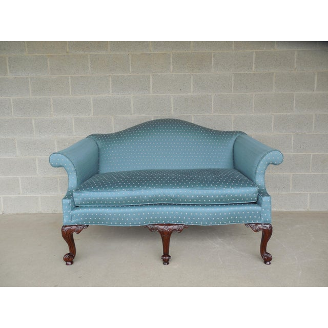 """BAKER Chippendale Style Camel Back Settee Sofa 61.5""""W - Image 11 of 11"""