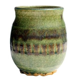 Small Green Ceramic Pot
