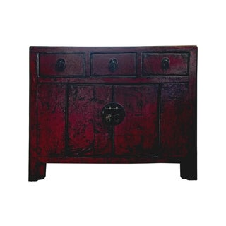 Antique Small Red Lacquer Cabinet
