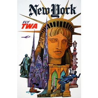 Vintage Reproduction New York Travel Poster