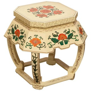 Chinese Lacquered Garden Stool