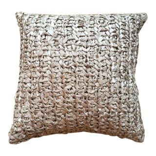 Square Woven Silk Ribbon Pillow