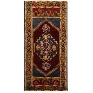 Vintage Medallion Turkish Carpet - 1′8″ × 3′4″