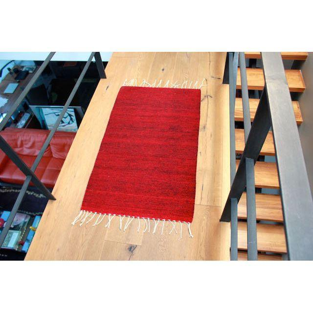 "Red-Wine Mexican Wool Rug - 2' X 3'3"" - Image 3 of 4"