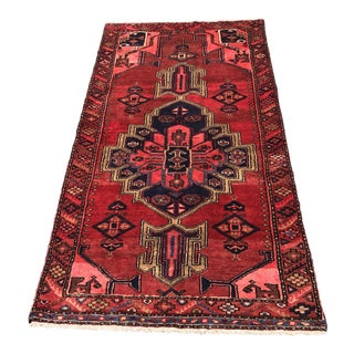 "Vintage Persian Zanjan Short Runner- 3'3"" x 6'1"""