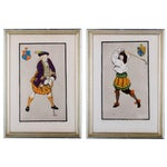 Image of Early Golfing Costume Prints - A Pair