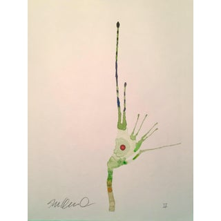 Contemporary Amphibious Botanical Original Watercolor