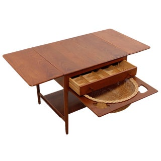 Hans Wegner Solid Teak Sewing Table