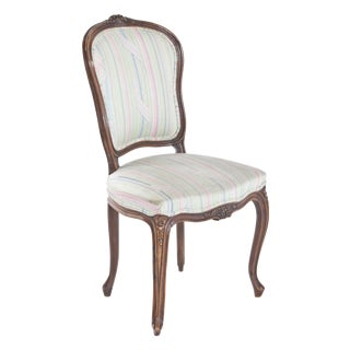 French Striped Side Chair