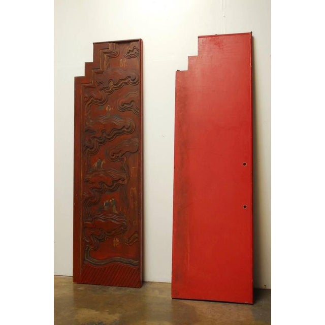Chinese Carved Temple Courtyard Door Panels - A Pair - Image 10 of 10