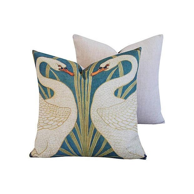 Swans Linen & Down/Feather Pillows - Pair - Image 5 of 8