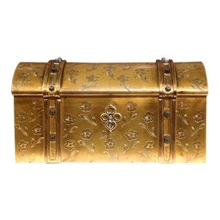 19th Century French Bronze Bombe Jewelry Box