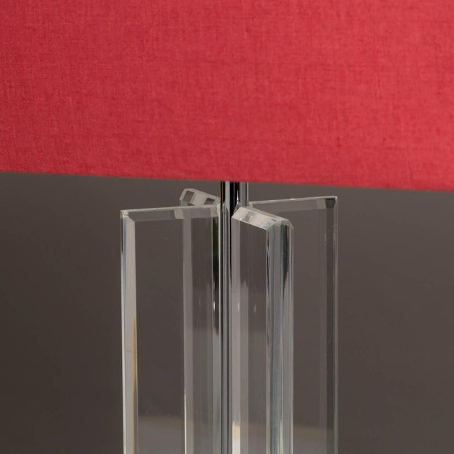 A Pair of Lucite Table Lamps 1970s - Image 3 of 4