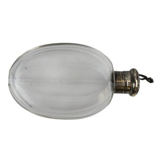 Sterling Cap Glass Flask
