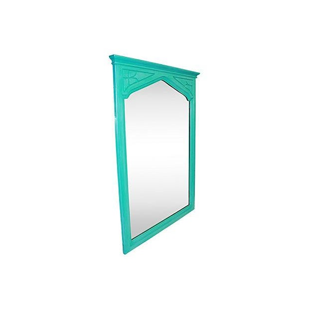 Image of Hand Painted Arts & Crafts Mirror