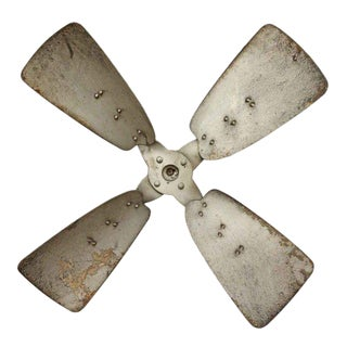 Vintage Industrial Metal Propeller