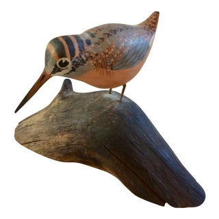 Miniature Carving of a Woodcock