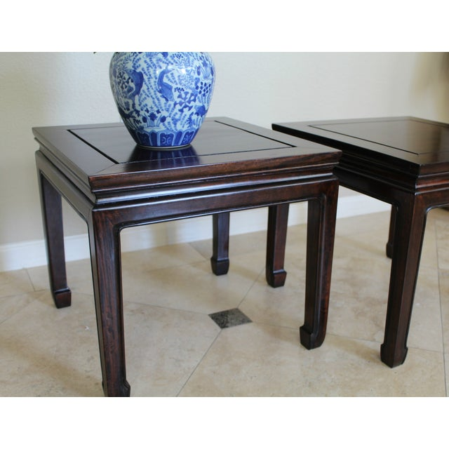 Image of Vintage Chinoiserie Ming Style Tables - A Pair