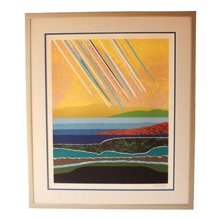 """Summer Rain"" Abstract Painting by Arthur Secunda"