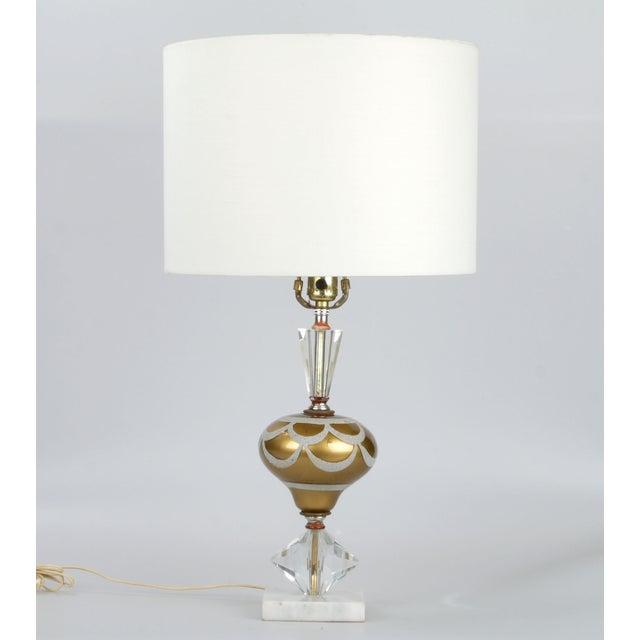 Italian Crystal & Marble Table Lamp - Image 2 of 10