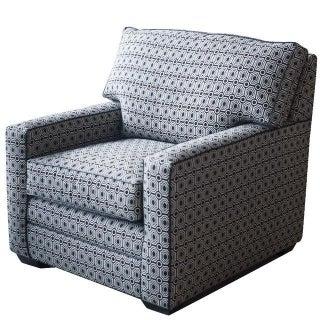 Kinkaid Black & White Kaleidoscope Club Chair