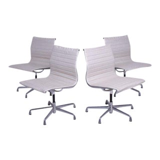 Set of Four Mid-Century Aluminum Chairs by Eames for Herman Miller