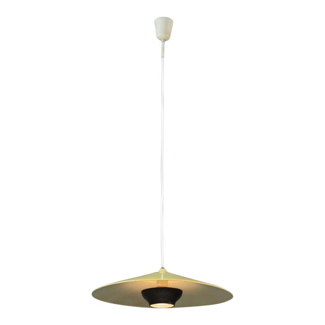 Early Gaetano Sciolari pendant in yellow and dark brass. Stilnovo, Italy, 1950s - Image 1 of 8