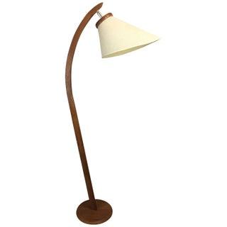 Mid-Century Danish-Inspired Teak Floor Lamp