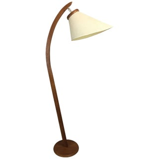 Mid-Century Danish-Inspired Teak Floor Lamp