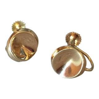 Georg Jensen Gold Earring No. 1136D by Nanna Ditzel