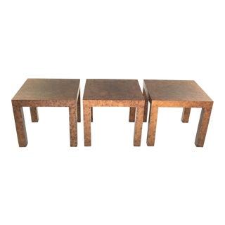 Milo Baughman for Thayer Coggin Burlwood Tables - Set of 3