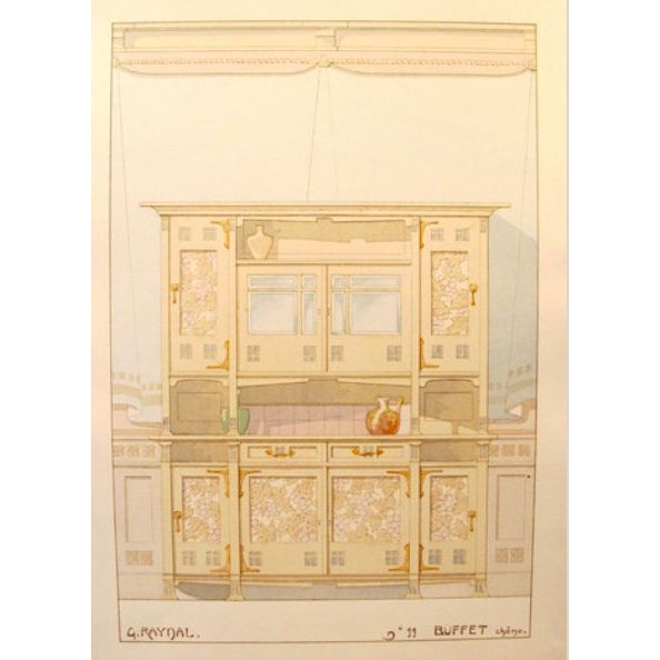Vintage French Decorator Sheet Interior/Buffet - Image 3 of 3