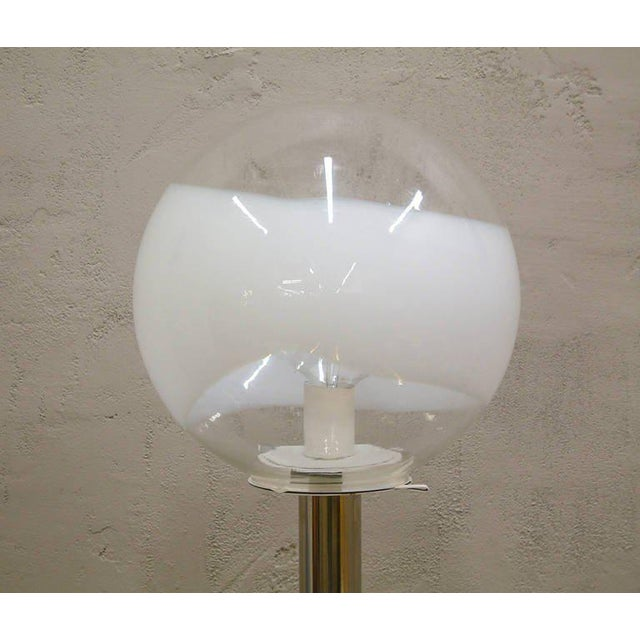 1960s Mazzega Style Tubular Chrome and Murano Glass Floor Lamp - Image 7 of 9