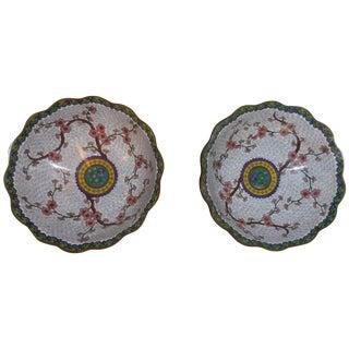 Chinese Cloisonné Bowls - A Pair